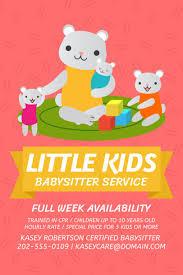 Babysitter Flyer Maker Placeit Flyer Maker For Babysitting Services
