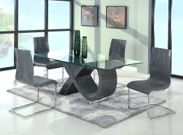 glass top dining table gorgeous modern room sets contemporary with pebbles