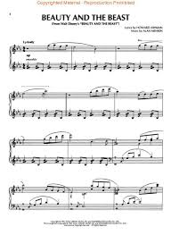 beauty and the beast sheet music sheet music beauty and the beast piano solo
