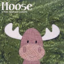 Free Moose Applique Pattern | Shiny Happy World & Free Moose Applique Pattern from Shiny Happy World Adamdwight.com
