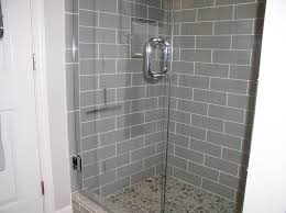 smoke glass 4 x 12 shower walls subway tile