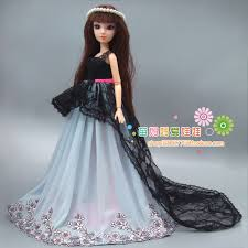 Free Shipping Gift For Girl 1 Piece Large Quality Wedding Dress For Barbie  Doll And FR