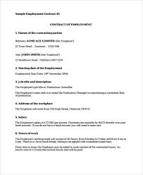 sample of contracts 42 sample contract templates free premium templates