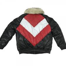 mens er multicolor lambskin leather jacket with fox fur collar mens