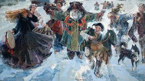 Галерея Арт Владивосток › Дальневосточная Государственная  Федотов Иван Ряженые