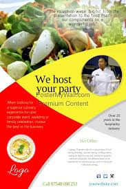 Catering Company Leaflet Template Postermywall