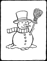 Sneeuwpop Met Bezem Kiddicolour