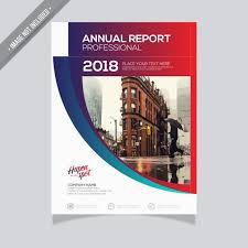 Professional Report Design Gradient Annual Report Design Vector Free Download