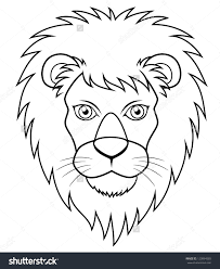 lion face drawing for kids.  Face Easy Lion Face Drawing At Getdrawings  Free For  Personal Use Inside Kids