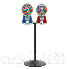 Bubble Vending Machine Simple Buy Classic Gumball Machine Metal With Double T Stand Vending