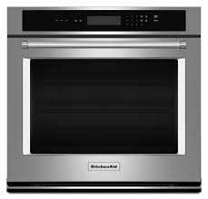 electric single wall oven in stainless steel