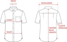 short size size chart short sleeve shirt saltura