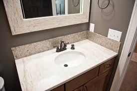 Backsplash for bathroom Penny Tile Bathroom Backsplash Rainwood Interiors Bathroom Backsplash Rainwood Interiors