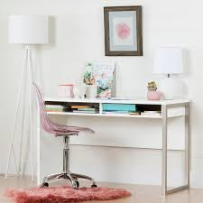 clear office desk. Pure White Desk With Clear Pink Office Chair - Interface | RC Willey  Furniture Store Clear Office Desk