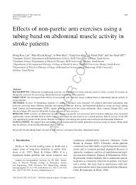 (PDF) Effects of non-paretic <b>arm exercises</b> using a tubing band on ...