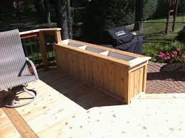 Small Picture Cedar planter box built from tongue and groove 1x6 1x4 trim and