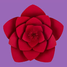 Red Paper Flower 12 Inch Anemone Red Paper Flower Backdrop Wall Decor 3d Premade Wedding Backdrop Wall Decor 3d Diy