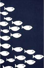 navy white fish print outdoor rug blue striped indoor rugs