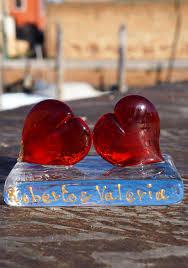 red hearts in murano glass 509 e red hearts in murano glass art 509