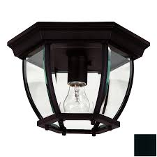 kenroy home dural 11 in w black outdoor flush mount light