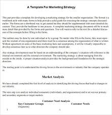 A Template For Marketing Stretegy Marketing Strategy