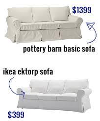 ikea rp sofa versus pottery barn