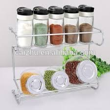 Decorative Spice Jars 100tier Storage Organizer Spice Jars Shelf Holder Rack Buy 78