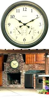 la crosse atomic outdoor clock outdoor atomic wall clock atomic outdoor wall clock outdoor clocks inch
