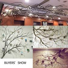 2019 flower wall artificial tree branches hanging garland flexible plastic vine wall hanging fake rattan diy home wedding garden hotel decoration from