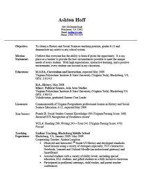 Teaching Experience Resume Free Resume Templates 2018
