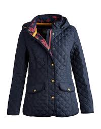 Joules Clothing | Red Rae Town & Country & MARCOTTE Womens Hooded Quilted Jacket Adamdwight.com