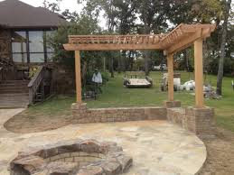 patio design pergola fire pit