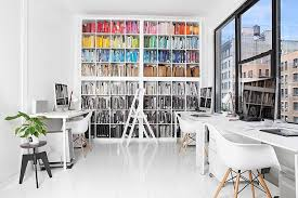 inspiring office spaces. Contemporary Inspiring I Wouldnu0027t Mind Trading This For My Own Tiny Office Space  Love The Eames  Chairs DAW And DSW Wegner Shell Chair And Ofcourse Design House  Throughout Inspiring Office Spaces