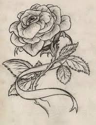rose and ribbon tattoo designs. Rose With Ribbon Tattoo By Maszeattackdeviantartcom On DeviantART Throughout And Designs