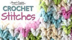 V Stitch Crochet Pattern Inspiration Stitch Repeat VStitch Free Crochet Pattern Right Handed YouTube