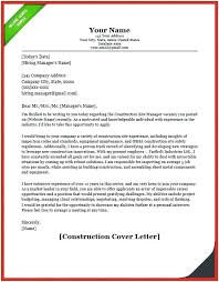 Construction Worker Cover Letter Examples Construction Worker Cover Letter Cover Letter Example Brilliant