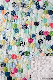 Hand Pieced Hexie Quilt - the one that took over a year - Quilty Love & I have a few regrets with this quilt. One is I used Warm and Plush batting  which I'm not a big fan on. I bought a roll of it though and since ... Adamdwight.com