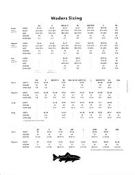 Patagonia Size Chart Women S Waders Size Chart Www Bedowntowndaytona Com