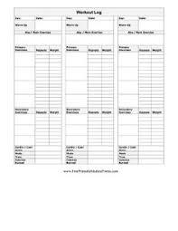 Free Printable Exercise Log Book Download Them Or Print
