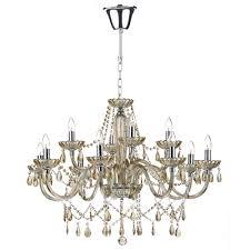 raphael 12 light champagne gold crystal chandelier