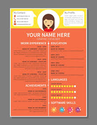 Graphic Designer Resume Template Download Free Vector Art Stock