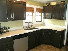 painted black kitchen cabinets before and after. Painting Kitchen Cabinets Black Ideas For Dark Paint  Or White . Painted Before And After I