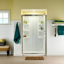 tub and shower walls ovation curved inch 3 piece wall set arctic one showers with seat shower double seat one piece