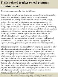 ... 16. Fields related to after school program ...
