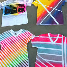 How To Make A Cool Shirt Use An Old T Shirt Some Spray Paint And Duct Tape To Make