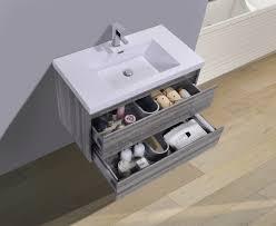 mobello wall mounted 36 single sink