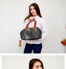 <b>KISS KAREN</b> Vintage Fashion Denim Totes Women Bag Jeans ...