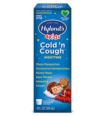 Hyland S 4kids Cold N Cough Nighttime Dosage Chart Hylands 4 Kids Cold N Cough Nighttime Hylands Homeopathic