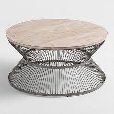 betania curved hourglass wood coffee table