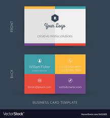Modern Creative Business Card Template Flat Design
